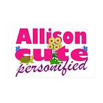 Cute Allison 38.5 x 24.5 Wall Peel