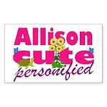 Cute Allison Sticker (Rectangle 10 pk)