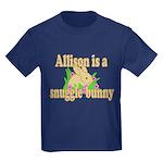 Allison is a Snuggle Bunny Kids Dark T-Shirt