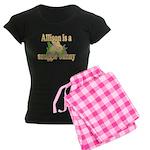 Allison is a Snuggle Bunny Women's Dark Pajamas