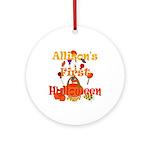 First Halloween Allison Ornament (Round)