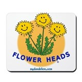 Flower Heads! Mousepad