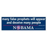 Many False Prophets Nobama Bumper Sticker