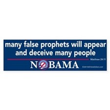 Many False Prophets Nobama Sticker 10 pak
