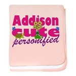 Cute Addison baby blanket