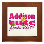 Cute Addison Framed Tile