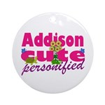 Cute Addison Ornament (Round)