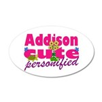 Cute Addison 22x14 Oval Wall Peel