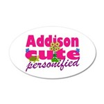 Cute Addison 38.5 x 24.5 Oval Wall Peel