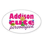 Cute Addison Sticker (Oval 10 pk)