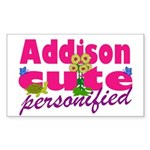 Cute Addison Sticker (Rectangle 10 pk)