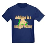 Addison is a Snuggle Bunny Kids Dark T-Shirt