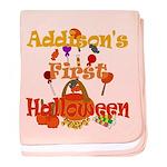 First Halloween Addison baby blanket