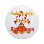 First Halloween Addison Ornament (Round)