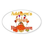 First Halloween Addison Sticker (Oval)