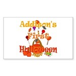 First Halloween Addison Sticker (Rectangle)