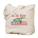 A is for Addison Tote Bag