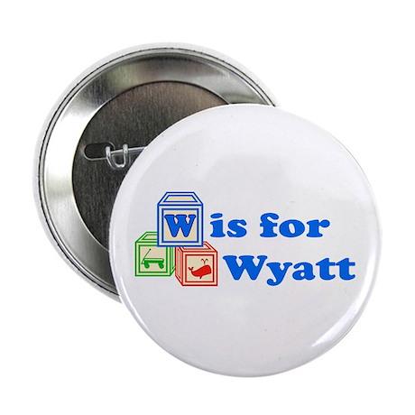 "Baby Blocks Wyatt 2.25"" Button"
