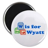 "Baby Blocks Wyatt 2.25"" Magnet (100 pack)"