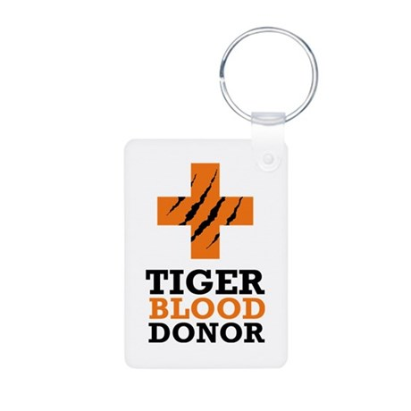 Tiger Blood Donor Aluminum Photo Keychain