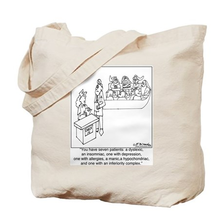 7 Patients W/ 7 Symptoms Tote Bag