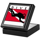 Cute Scuba Keepsake Box