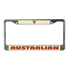 Australian V License Plate Frame