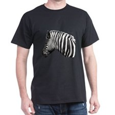 Zebra Black T-Shirt