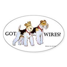 Got Wires? Oval Bumper Stickers