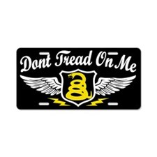 Unique Tread on me Aluminum License Plate