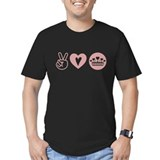 Peace Love Heart Princess Crown T