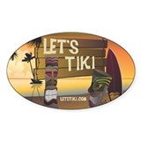 Let's Tiki Oval Decal