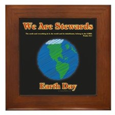 Earth Day Stewards Framed Tile