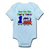 Party Train One Year Old Infant Bodysuit