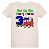 Party Train Three Year Old T-Shirt