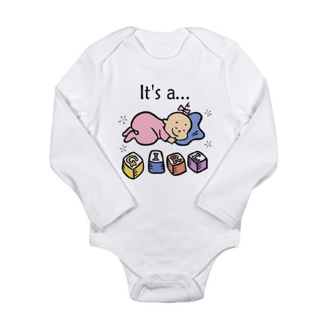 It's a Girl Long Sleeve Infant Bodysuit