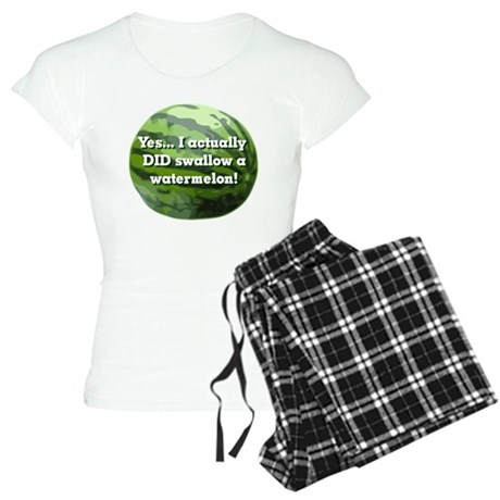 Swallow a Watermelon Women's Light Pajamas