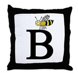 B for Bee Throw Pillow