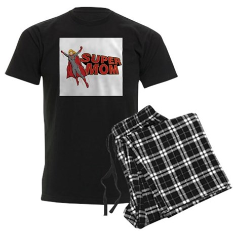 Super Mom Men's Dark Pajamas