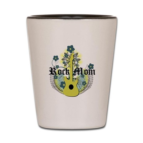 Rock Mom Shot Glass