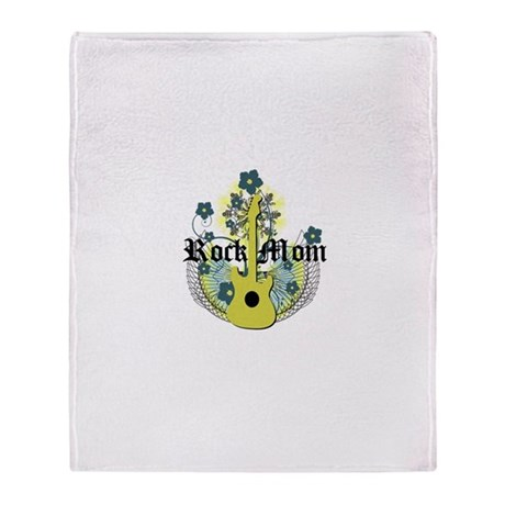 Rock Mom Throw Blanket
