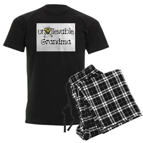 Unbelievable Grandma Men's Dark Pajamas