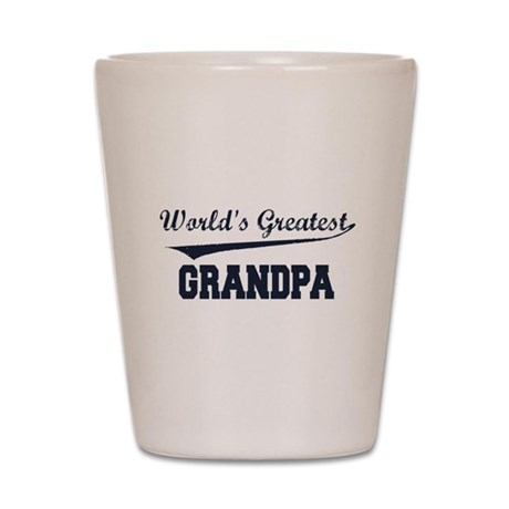 World's Greatest Grandpa Shot Glass