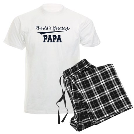World's Greatest Papa Men's Light Pajamas