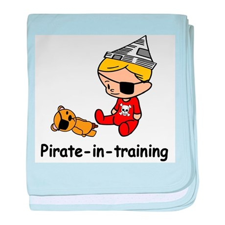 Pirate-in-training baby blanket