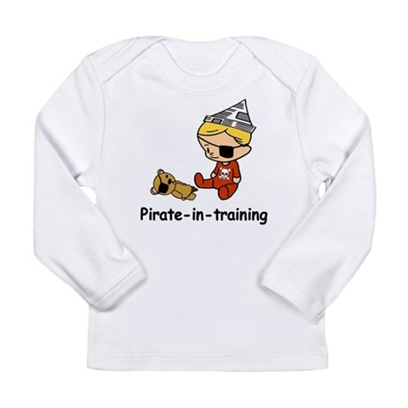 Pirate-in-training Long Sleeve Infant T-Shirt