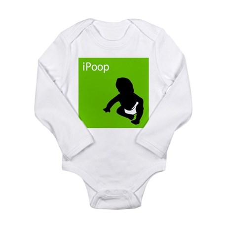 iPoop Long Sleeve Infant Bodysuit