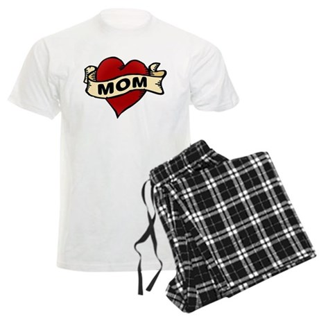 Mom heart tattoo Men's Light Pajamas