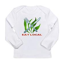 Eat Local Long Sleeve Infant T-Shirt