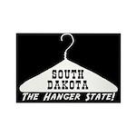 South Dakota - Hanger State Rectangle Magnet (10